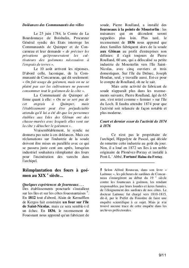 Doléances des Communautés des villes Le 25 juin 1784, le Comte de La Bourdonnaye de Boishulin, Procureur Général syndic de...
