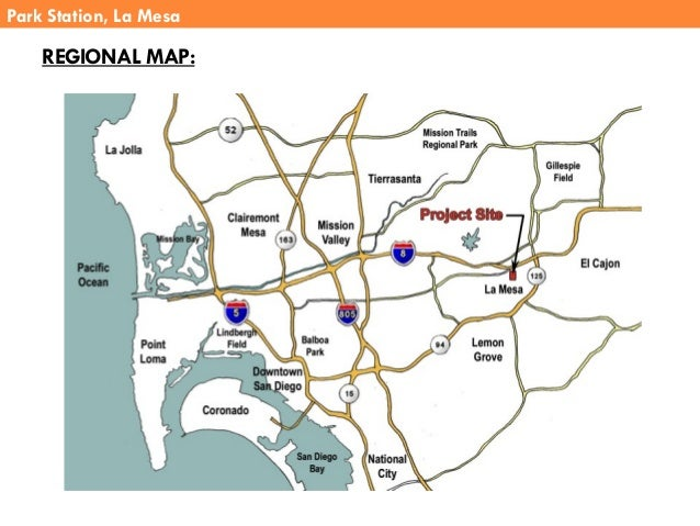 Park Station, La Mesa REGIONAL MAP: