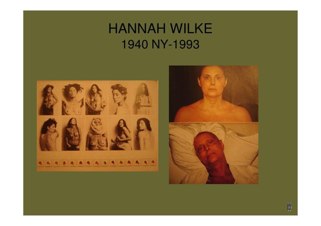 HANNAH WILKE  1940 NY-1993