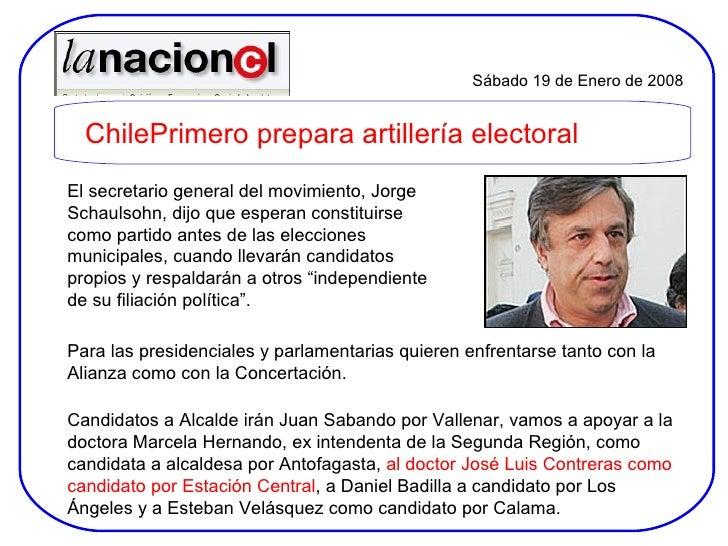 El secretario general del movimiento, Jorge Schaulsohn, dijo que esperan constituirse como partido antes de las elecciones...