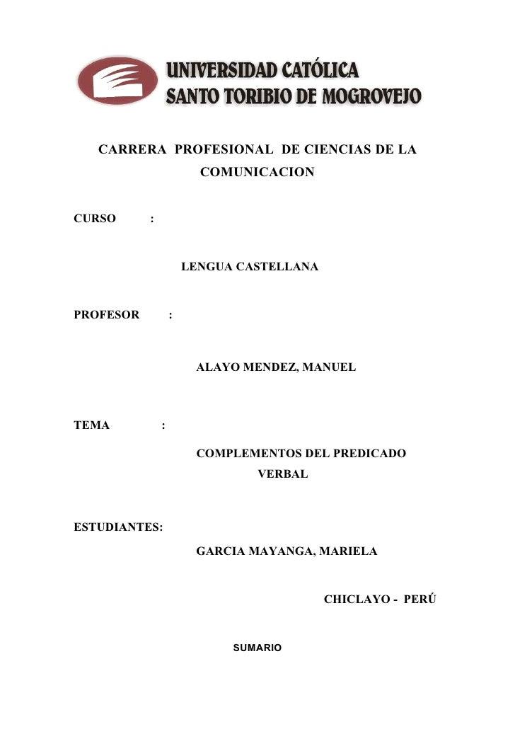 CARRERA PROFESIONAL DE CIENCIAS DE LA                                   O T O R IB                                        ...