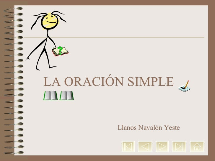 LA ORACIÓN SIMPLE Llanos  Navalón Yeste