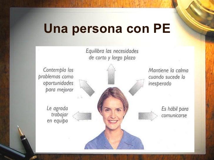 Una persona con PE