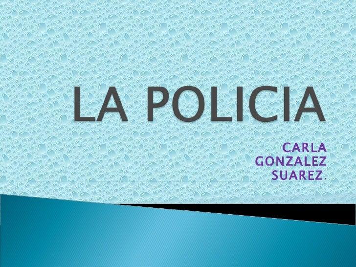 CARLA GONZALEZ SUAREZ .