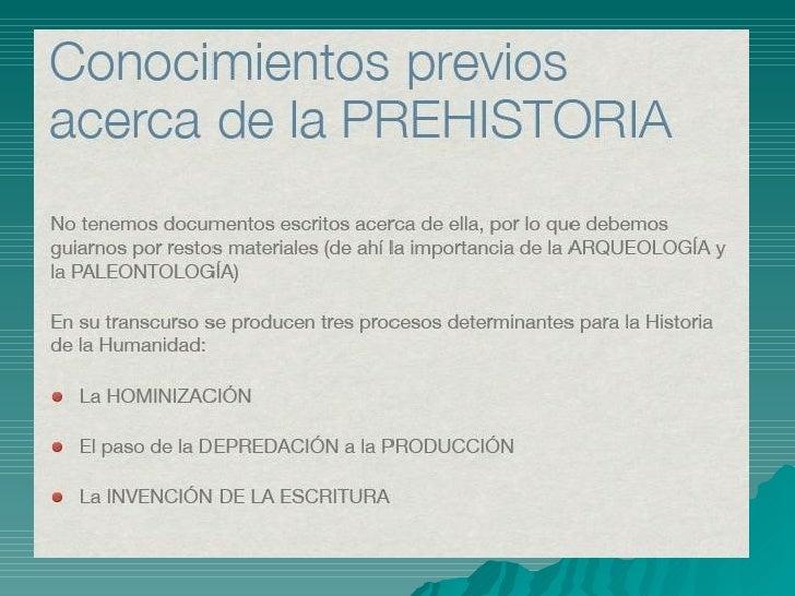 La Prehistoria Slide 2