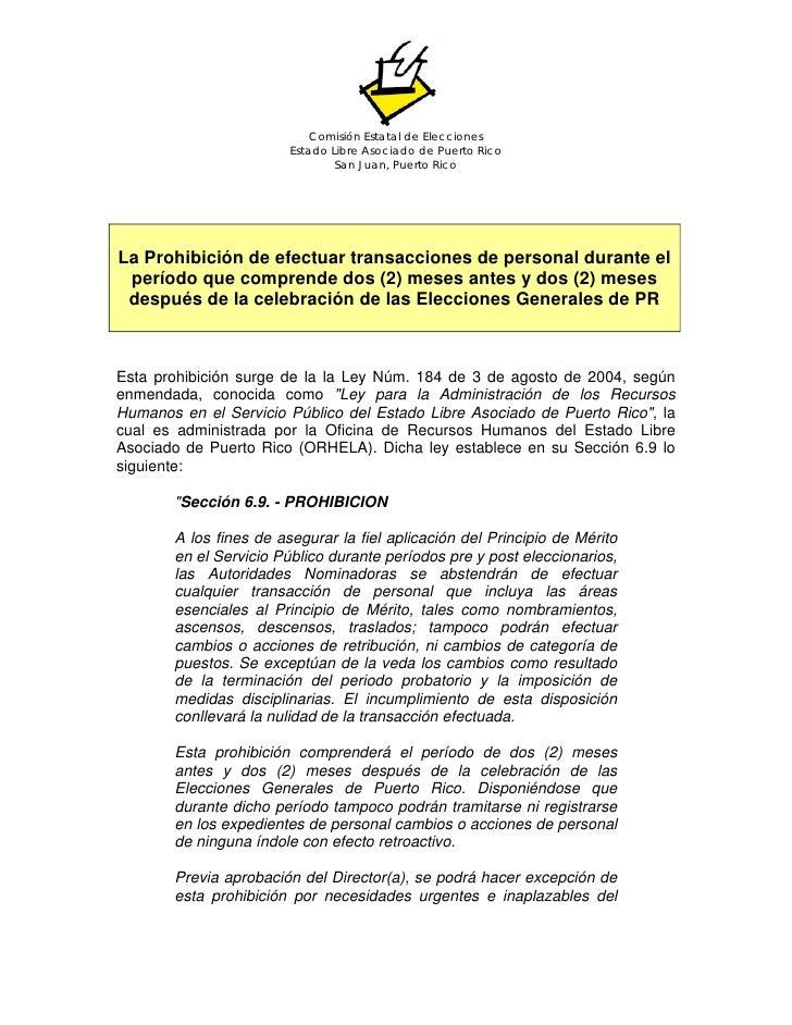 Comisión Estatal de Elecciones                         Estado Libre Asociado de Puerto Rico                               ...