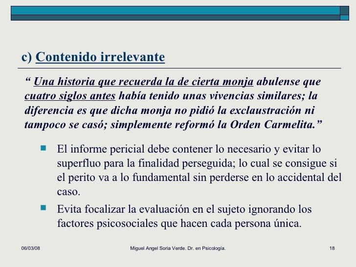 """02/06/09 Miguel Angel Soria Verde. Dr. en Psicología. """"  Una historia que recuerda la de cierta monja  abulense que  cuatr..."""