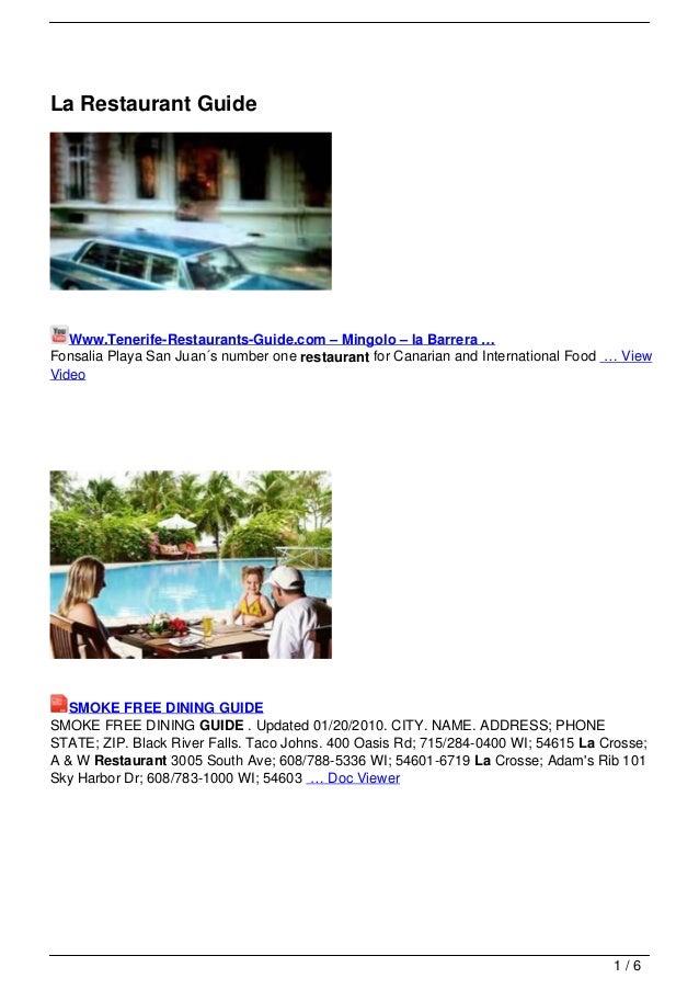 La Restaurant Guide   Www.Tenerife-Restaurants-Guide.com – Mingolo – la Barrera …Fonsalia Playa San Juan´s number one rest...