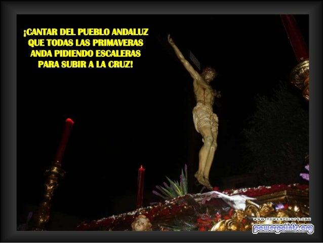 ¡CANTAR DE LA TIERRA MIA     QUE ECHA FLORES   AL JESÚS DE LA AGONÍAY ES LA FE DE MIS MAYORES!