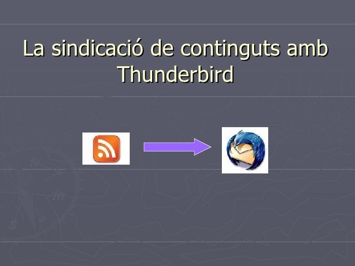 La sindicació de continguts amb Thunderbird