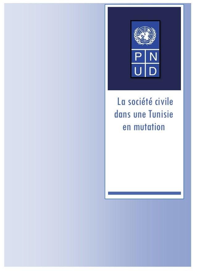 La société civile dans une Tunisie en mutation