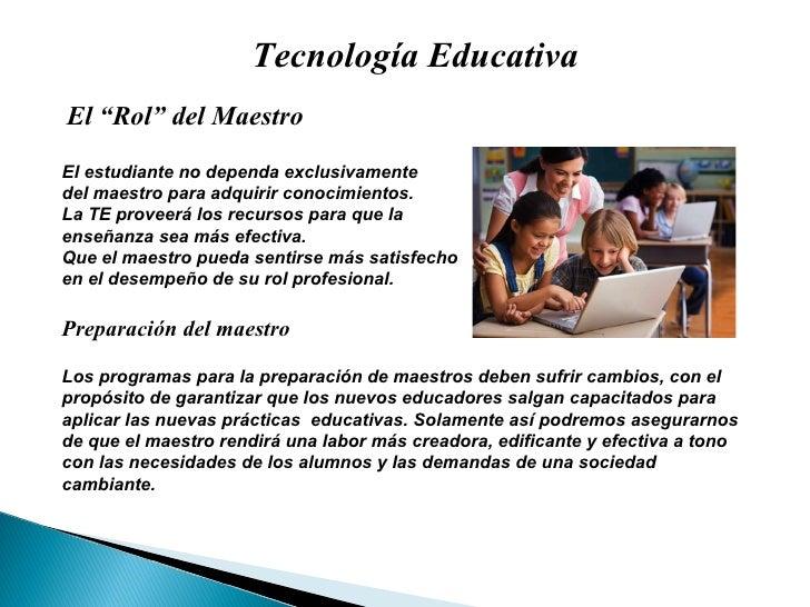 La Tecnologia Educativa