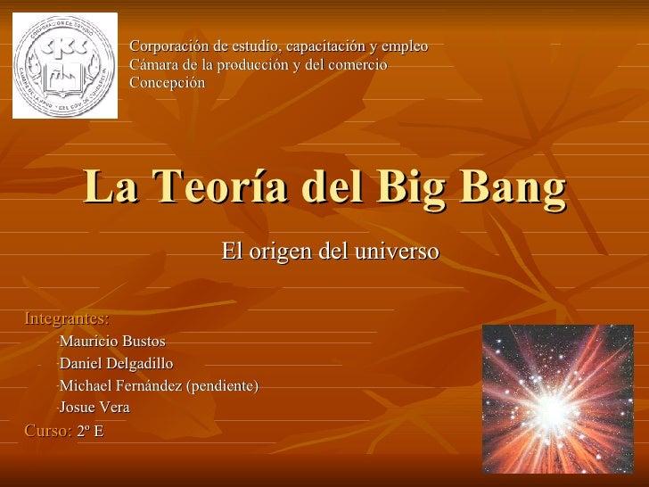Buscar la teoría del big bang