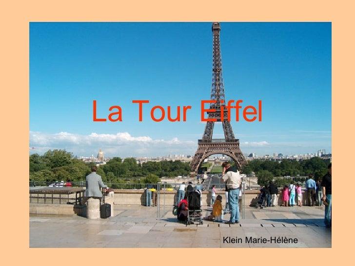 La Tour Eiffel Klein Marie-Hélène
