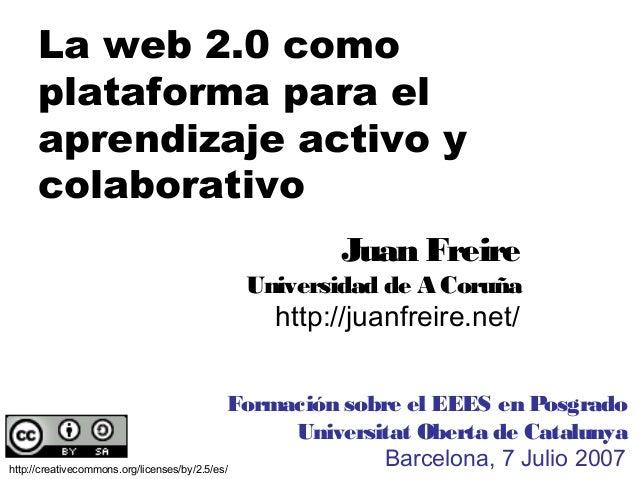 PREESCOLAR INFANTIL PRIMARIA SECUNDARIA UNIVERSIDADLa web 2.0 comoplataforma para elaprendizaje activo ycolaborativohttp:/...