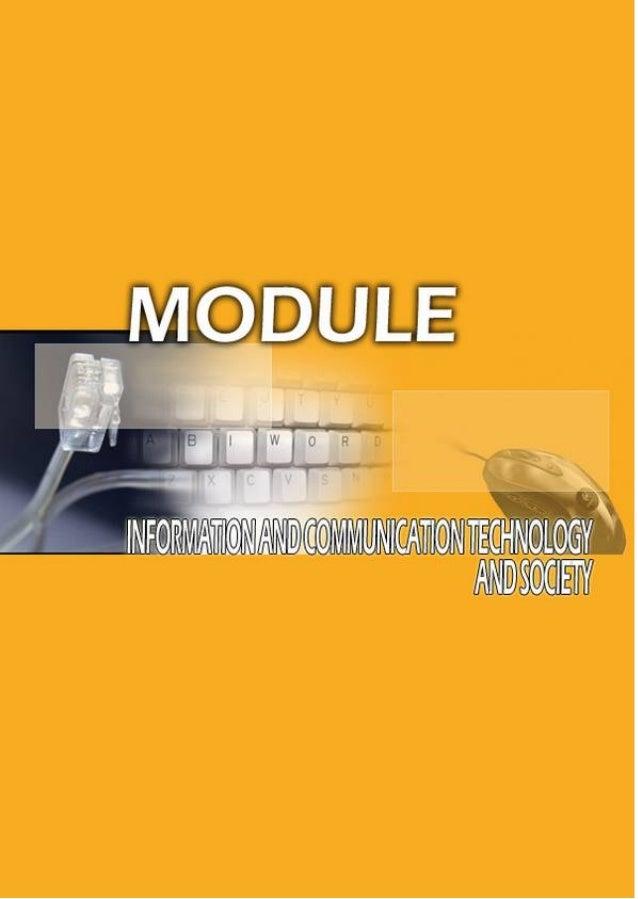 INFORMATIONANDCOMMUNICATION TECHNOLOGYLEARNING MODULEINFORMATION AND COMMUNICATION TECHNOLOGYAND SOCIETYPusat Perkembangan...