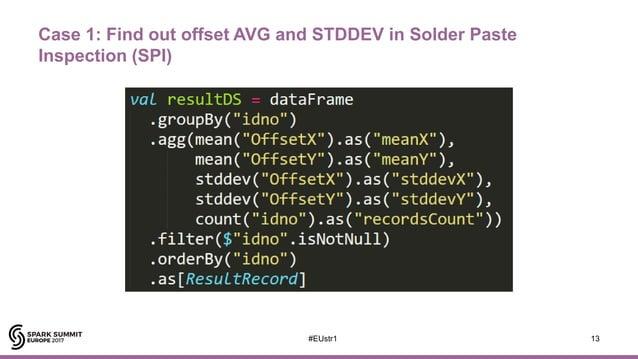 Case 1: Find out offset AVG and STDDEV in Solder Paste Inspection (SPI) 13#EUstr1