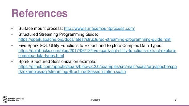 References • Surface mount process: http://www.surfacemountprocess.com/ • Structured Streaming Programming Guide: https://...