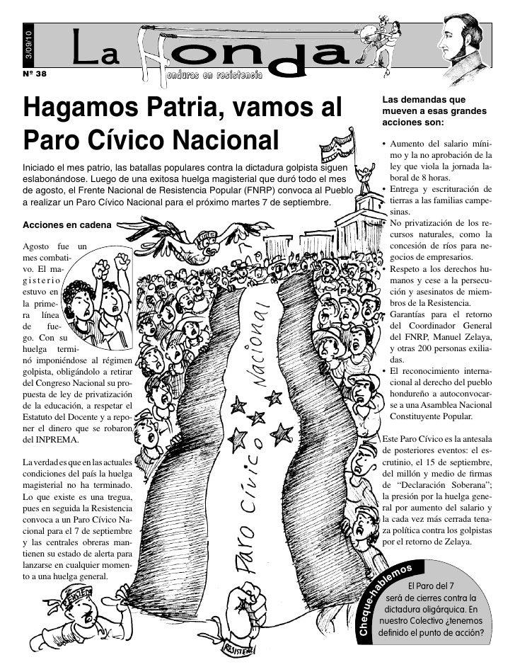 3/09/10     Nº 38                              onduras en resistencia   Hagamos Patria, vamos al                          ...