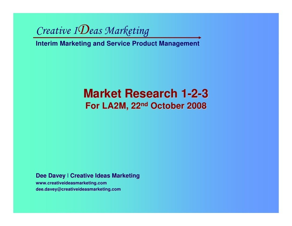 Creative IDeas Marketing Interim Marketing and Service Product Management                                              Mar...