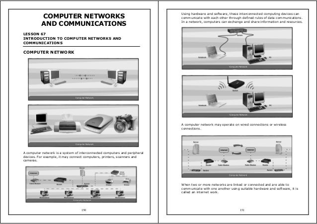 150 COMPUTER NETWORKS AND COMMUNICATIONS LESSON 67 INTRODUCTION TO COMPUTER NETWORKS AND COMMUNICATIONS COMPUTER NETWORK A...