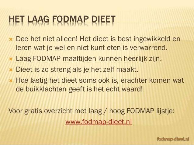 fodmap dieet online