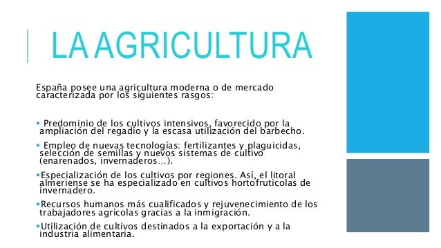La agricultura de secano y regadío en españa