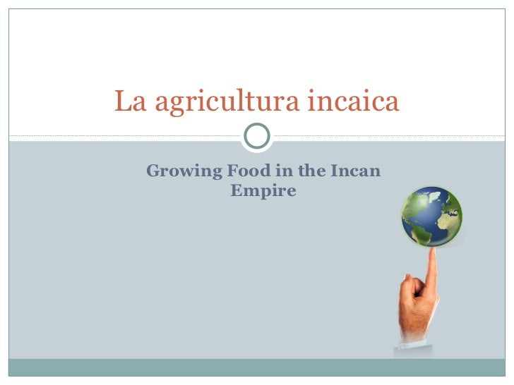 Growing Food in the Incan Empire La agricultura incaica