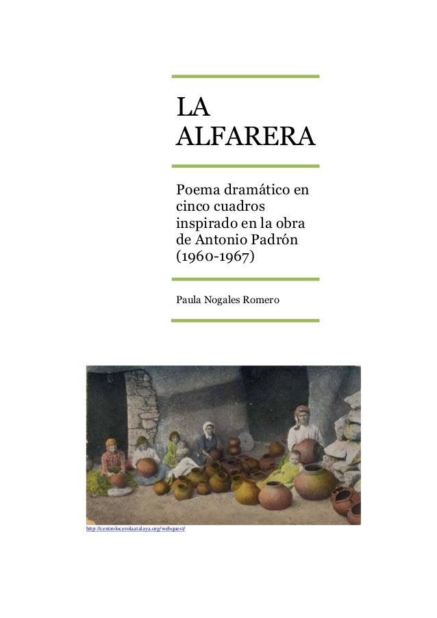 LA                                      ALFARERA                                      Poema dramático en                  ...