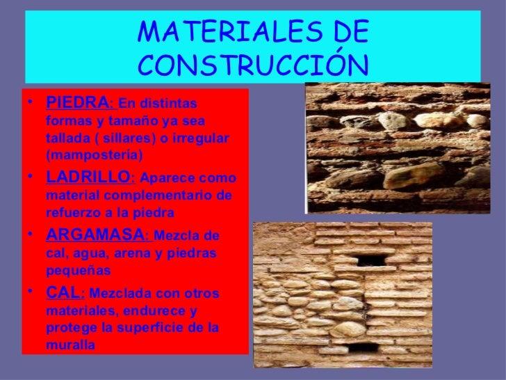 La alhambra - Tipos de materiales de construccion ...