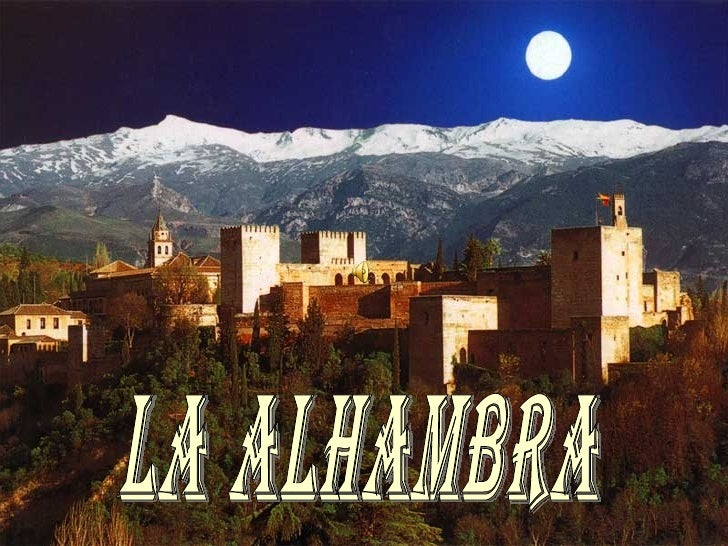 """El nombre Alhambra tiene sus orígenes en una palabra árabe que significa """"castillo rojo o bermellón"""", debido quizás al ton..."""