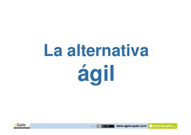 www.agile-spain.com La alternativa ágil V5.3