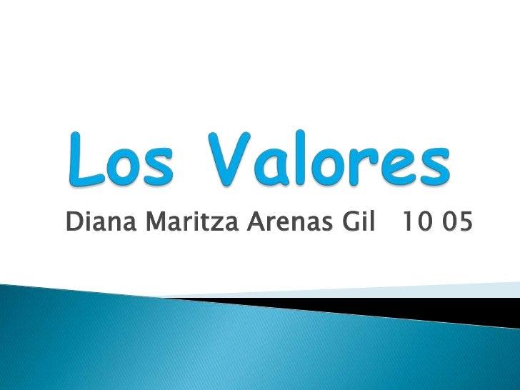 Diana Maritza Arenas Gil 10 05