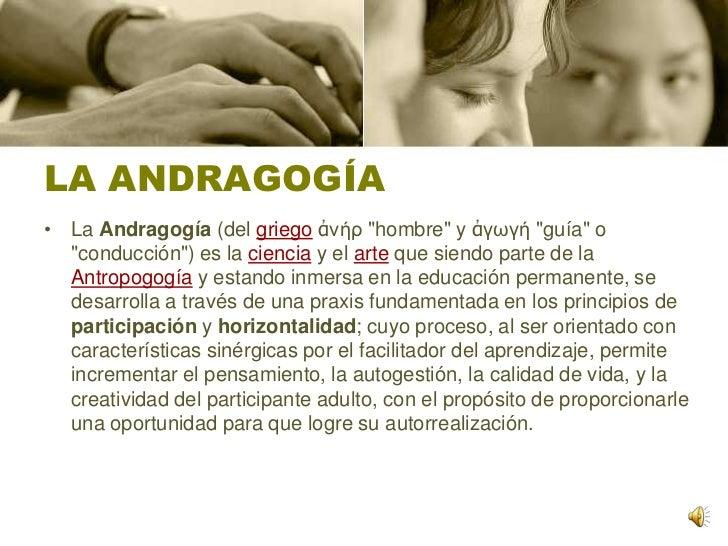 La Andragogía Slide 2