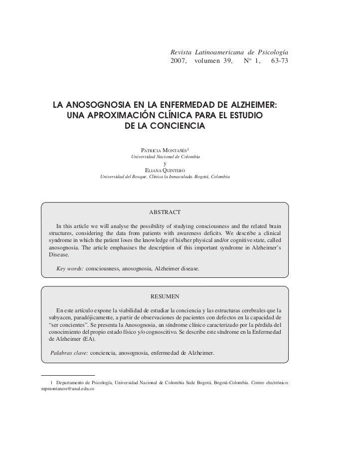 Revista Latinoamericana de Psicología                                                             2007, volumen 39,      N...