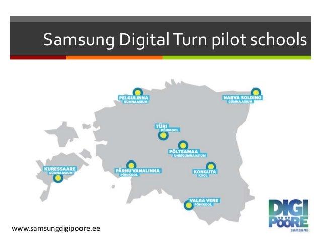 Samsung DigitalTurn pilot schools www.samsungdigipoore.ee