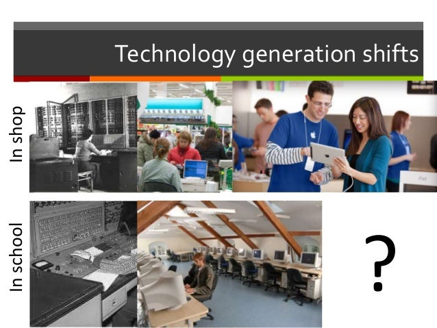 Technology generation shifts InshopInschool ?