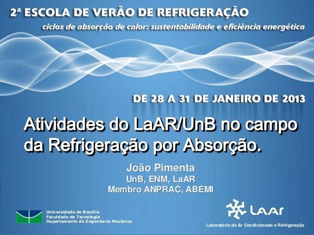 João Pimenta                            UnB, ENM, LaAR                         Membro ANPRAC, ABEMIUniversidade de Brasíli...