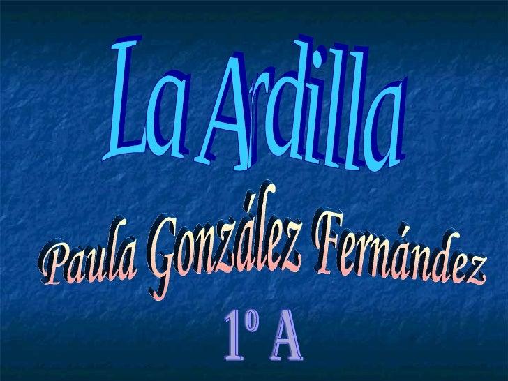 La Ardilla Paula González Fernández 1º A