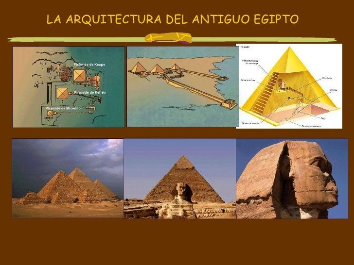 LA ARQUITECTURA DEL ANTIGUO EGIPTO