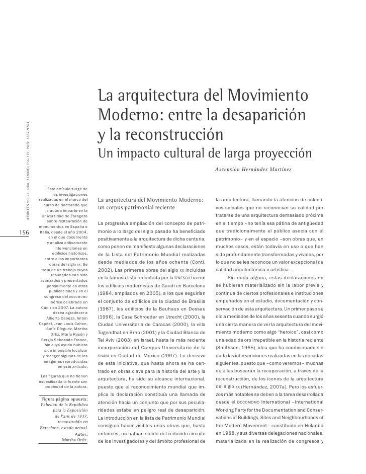 La arquitectura del Movimiento                                                                                            ...