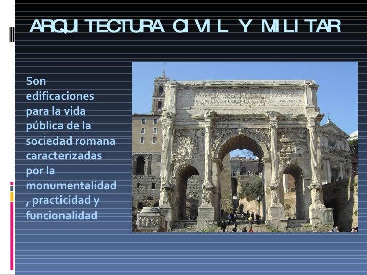 La arquitectura en roma cl for Arquitectura militar