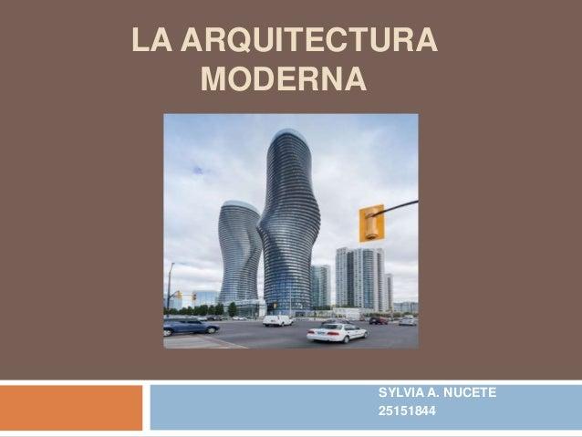 La arquitectura moderna for Arquitectura moderna
