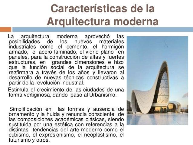 La arquitectura moderna - Movimiento moderno ...