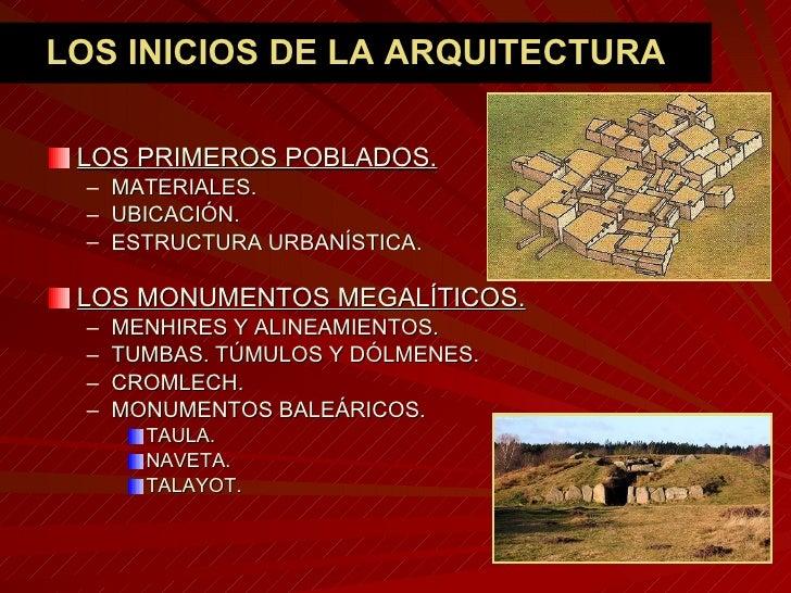 La arquitectura neolítica y de la edad de los Metales. Slide 2