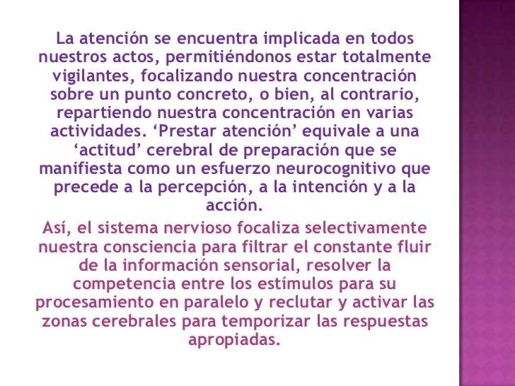La atención como proceso neuropsicologico