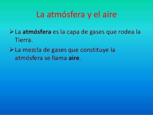 La atmósfera terrestre Slide 2