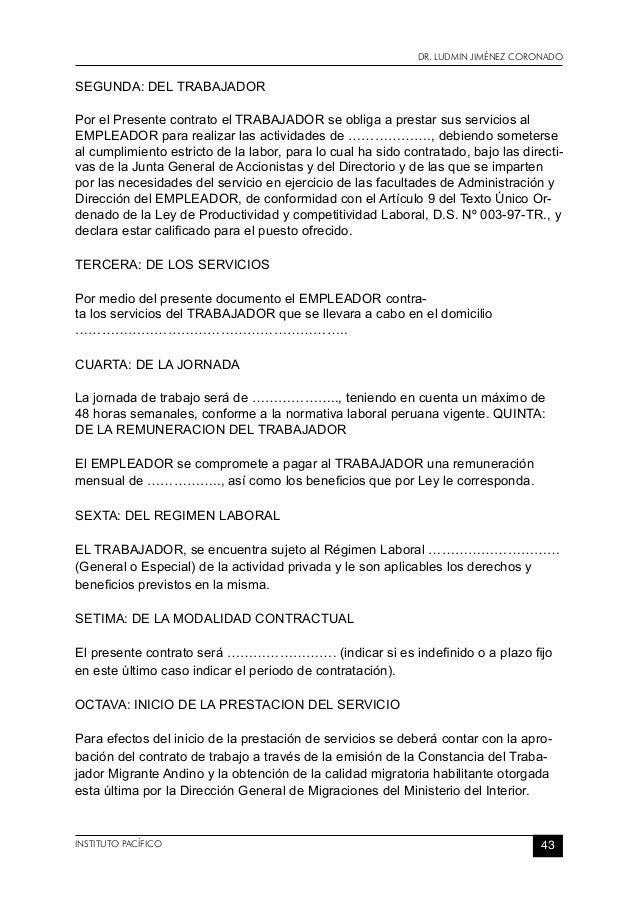 Contratos derechos lab for Formato de contrato de trabajo indefinido
