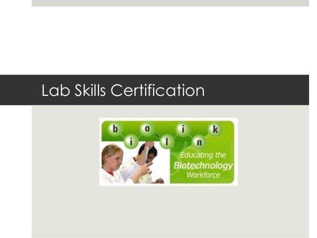 Lab Skills Certification