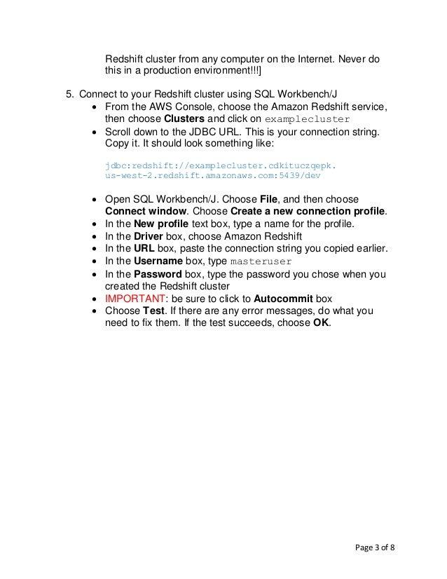Lab Manual Using Redshift Slide 3